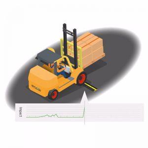 Forklift Darbe Ve Durum Sensörü